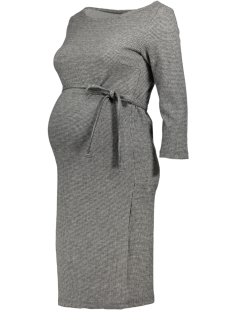 Mama-Licious Positie jurk MLTARTAN 3/4 JERSEY ABOVE KNEE DRESS 20007670 Grey Melange/ Check