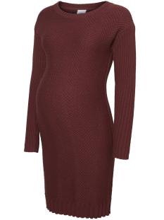 Mama-Licious Positie jurk MLDENNAR L/S KNIT DRESS 20007568 Zinfandel