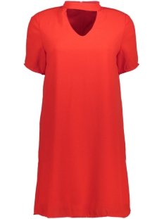 Only Jurk onlSUPER CHOKER 2/4 DRESS WVN 15144981 Flame Scarlet