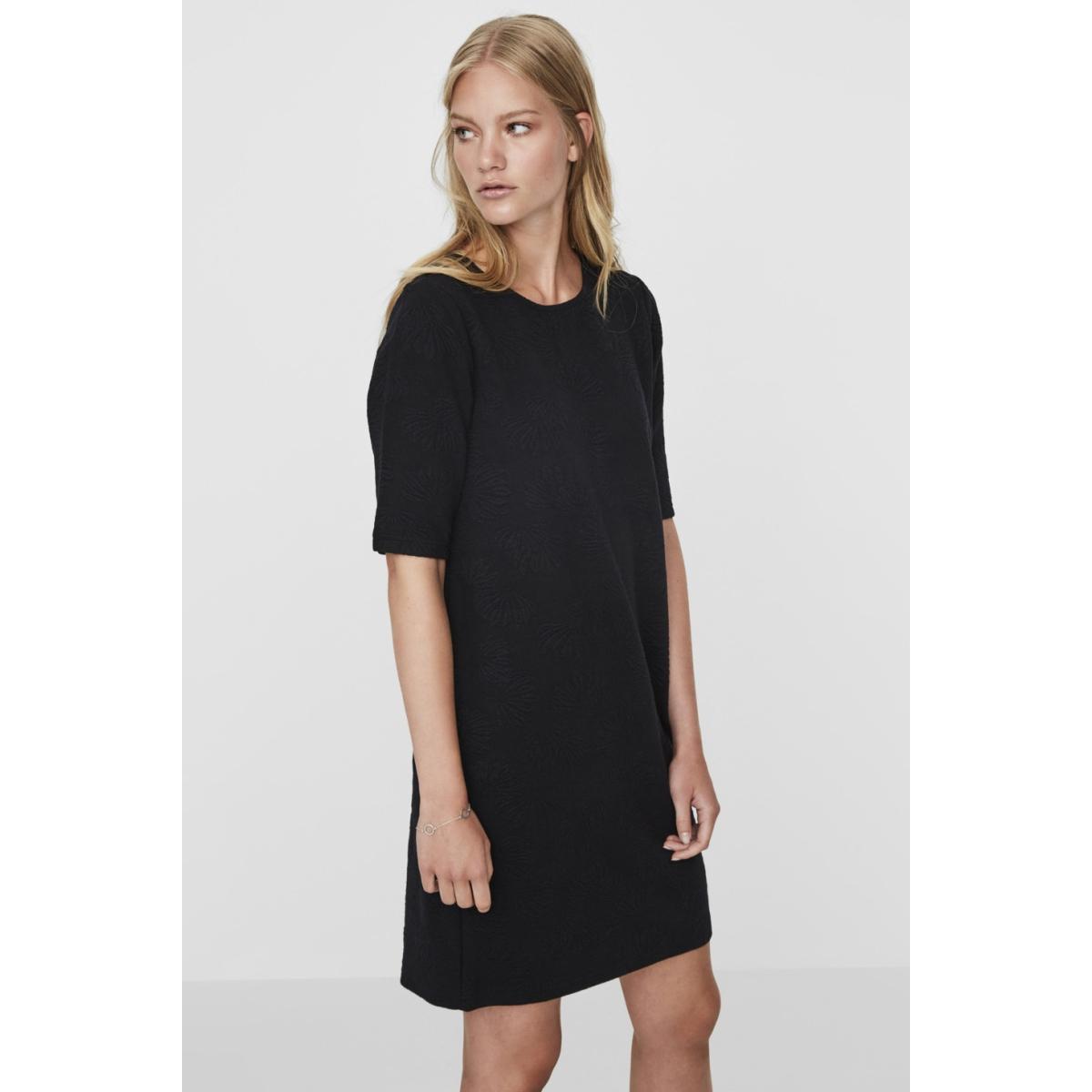 vmgalia 2/4 short dress swt 10186351 vero moda jurk black