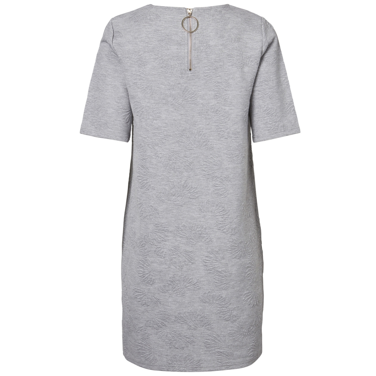 vmgalia 2/4 short dress swt 10186351 vero moda jurk light grey melange
