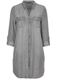 Vero Moda Jurk VMSILLA LS GREY SHORT DRESS GA NOOS 10184178 Light Grey Denim