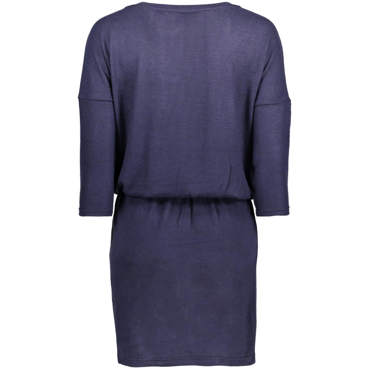 onlmaye 3/4 dress knt 15144817 only jurk sky captain/w.black