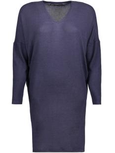 onlMAYE L/S V-NECK DRESS KNT 15143530 Sky Captain/Black