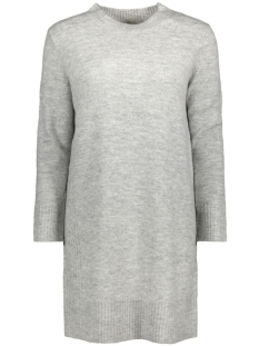 Jacqueline de Yong Jurk JDYGOLD L/S DRESS KNT 15133645 Light Grey Melange
