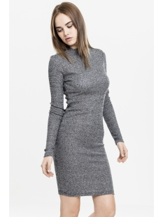 Urban Classics Jurk TB1340 DRESS CHARCOAL Charcoal