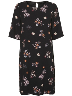 Vero Moda Jurk VMNEW MARTHA 2/4 SHORT DRESS LOCAL 10191489 Black/New Flower