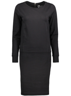 Only Jurk onlLAURA L/S DRESS SWT 15141816 Black