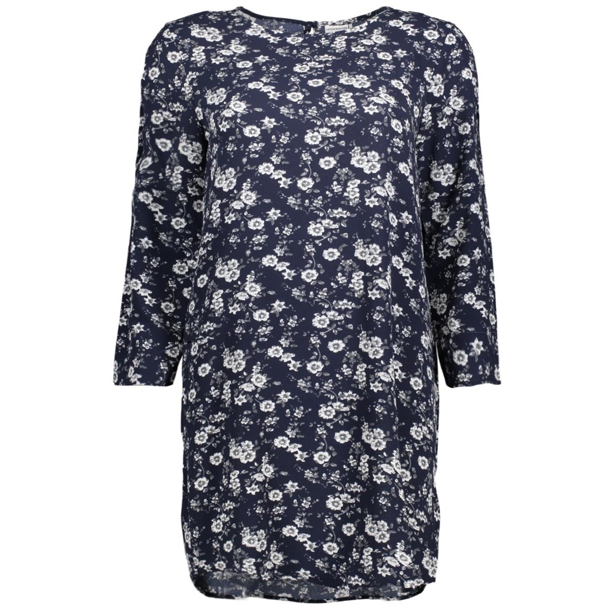 jdydaya 3/4 aop dress wvn 15139228 jacqueline de yong jurk dark navy/daya flower