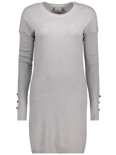 Vero Moda Jurk VMHAPPY AURA LS O-NECK DRESS BOO 10182633 Light Grey Melange
