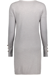 vmhappy aura ls o-neck dress boo 10182633 vero moda jurk light grey melange