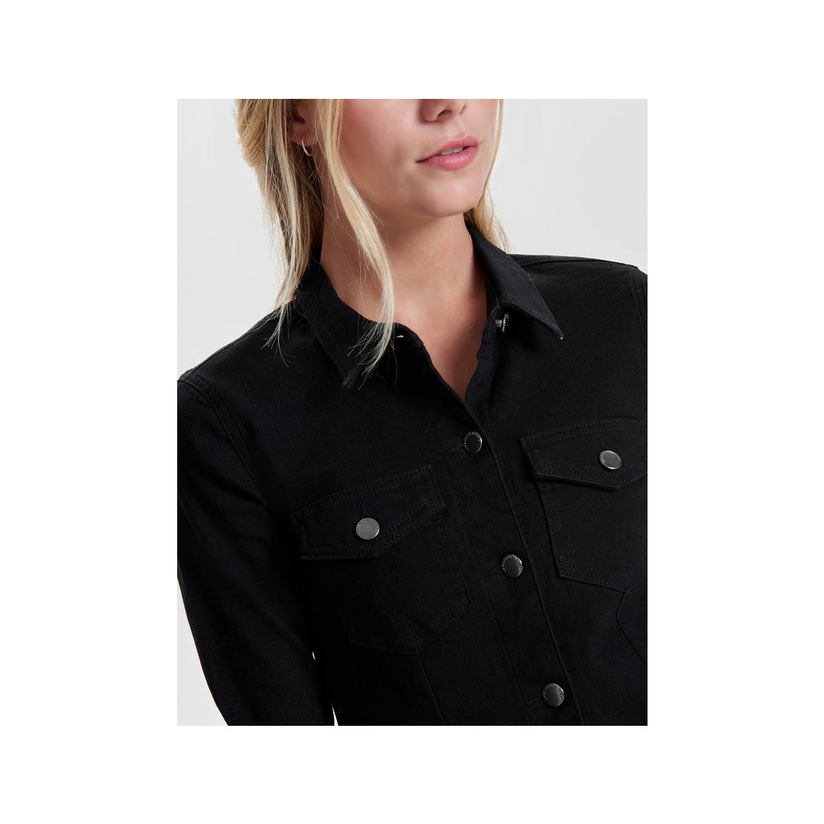 jdyjuicy ls denim black dress dnm r 15145457 jacqueline de yong jurk black