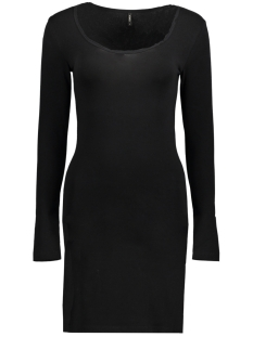 Only Jurk onlLIVE LOVE L/S O-NECK DRESS ESS 15149783 Black