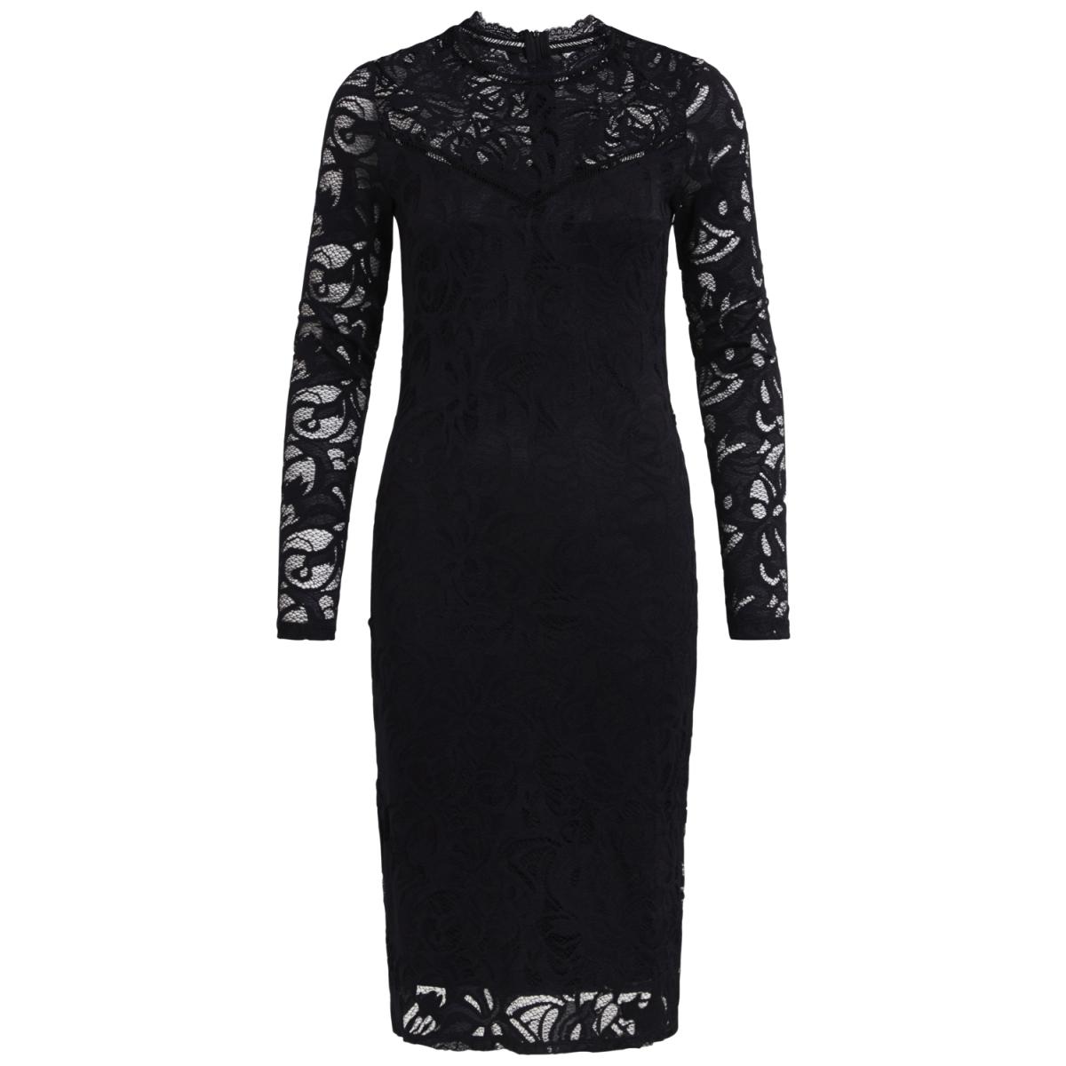 vistasia l/s lace dress 14041868 vila jurk black