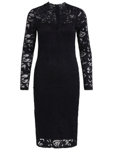 Vila Jurk VISTASIA L/S LACE DRESS 14041868 Black