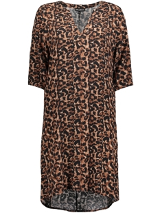 Juul & Belle Jurk V-NECK LEOPARD DRESS LEOPARD