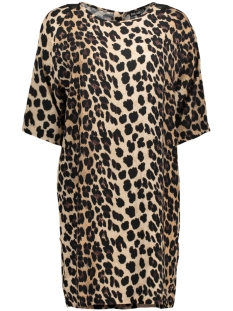 Juul & Belle Jurk LEOPARD ZIP DRESS LEOPARD