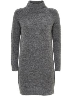 Only Jurk onlTRUST L/S HIGHNECK DRESS KNT RP 15116634 Dark Grey Melange
