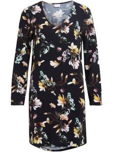 vimagnolia v-neck dress - vis 14045370 vila jurk black/yellow pri