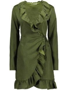 virivera wrap dress/rx 14047276 vila tuniek chive/black dot
