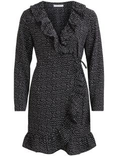Vila Tuniek VIRIVERA WRAP DRESS/RX 14047276 Black/White Dot