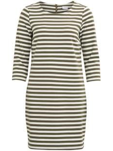 vitinny new dress-fav 14043495 vila jurk ivy green/snow white