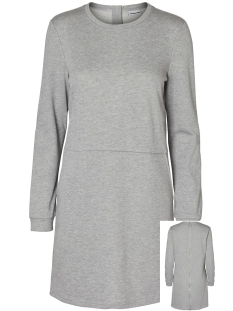 Noisy may Jurk NMKAYA L/S SHORT DRESS 8X 27000432 Light Grey Melange
