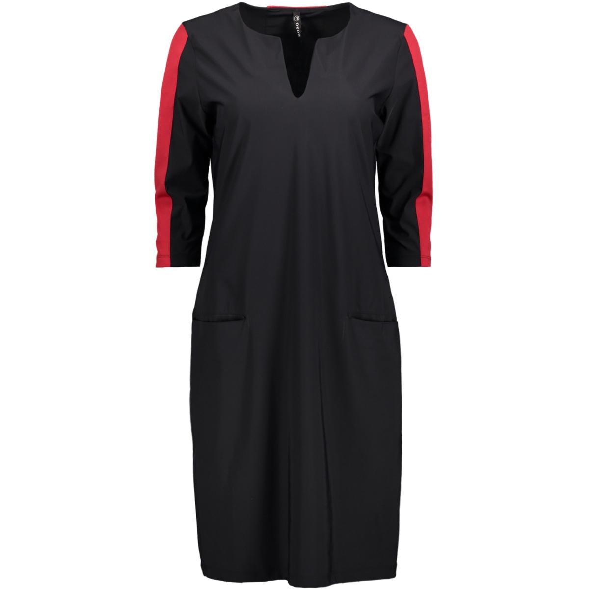 mars zoso jurk black/red