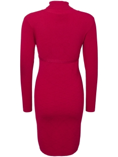 mljacina l/s knit rollneck dress 20004689 mama-licious positie jurk jester red
