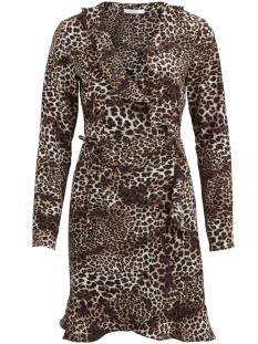 Vila Tuniek VIKACY L/S WRAP DRESS/RX 14047409 Black/ Animal Print