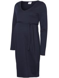Mama-Licious Positie jurk MLTILLY L/S JERSEY ABK. DRESS 20007947 Navy Blazer