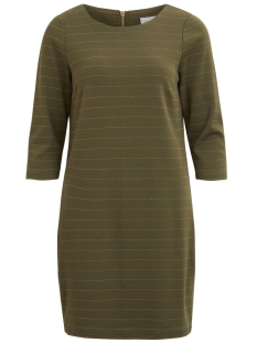 Vila Jurk VITINNY NEW DRESS - LUX 14043921 Ivy Green
