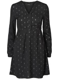 Vero Moda Jurk VMFOLIA LS SHORT DRESS 10188463 Black/Silver foil