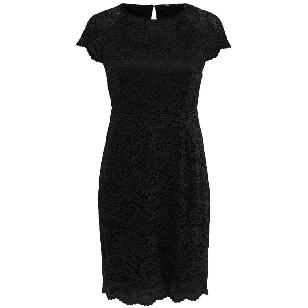 only jurk zwart kant