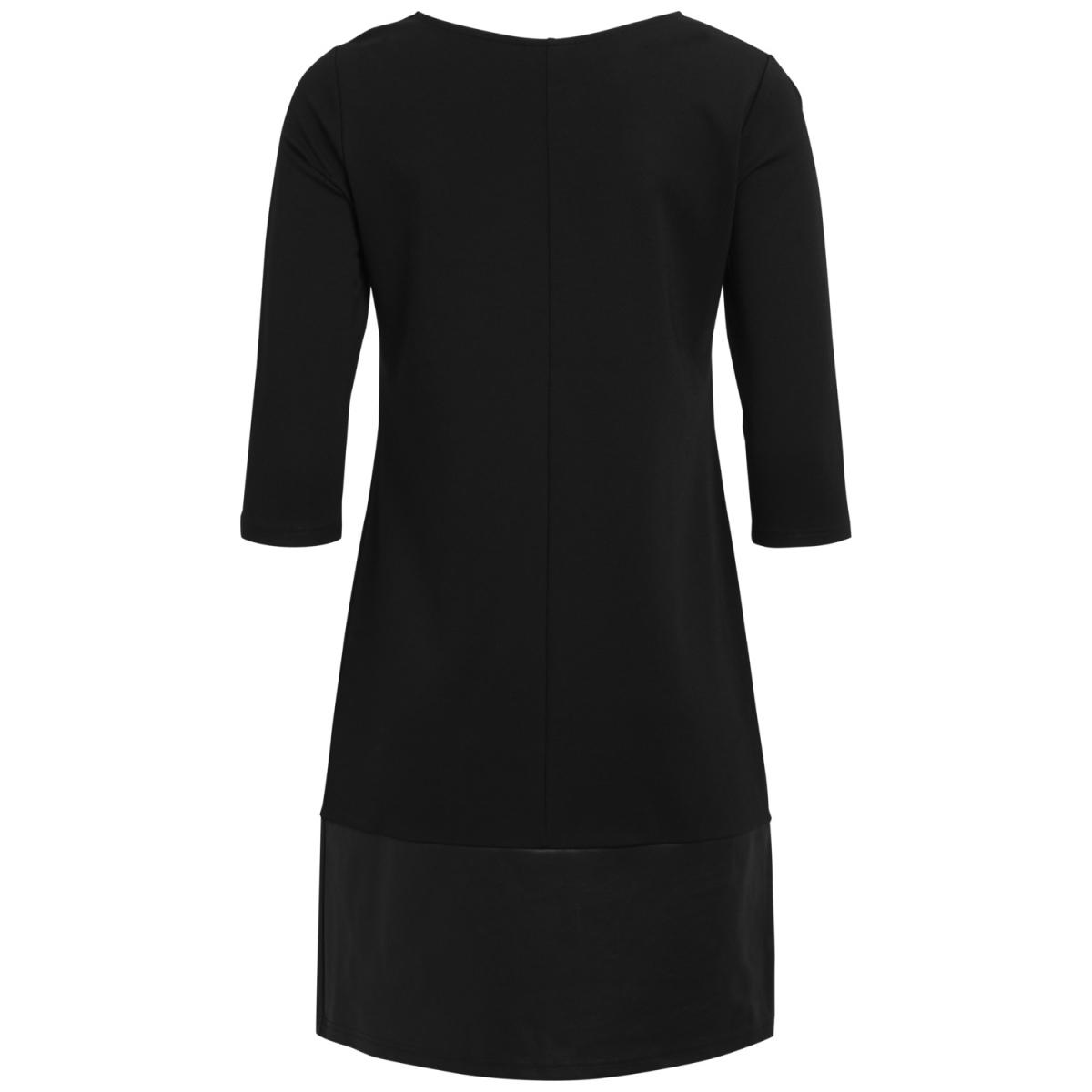 vially 3/4 sleeve dress/1 14045229 vila jurk black