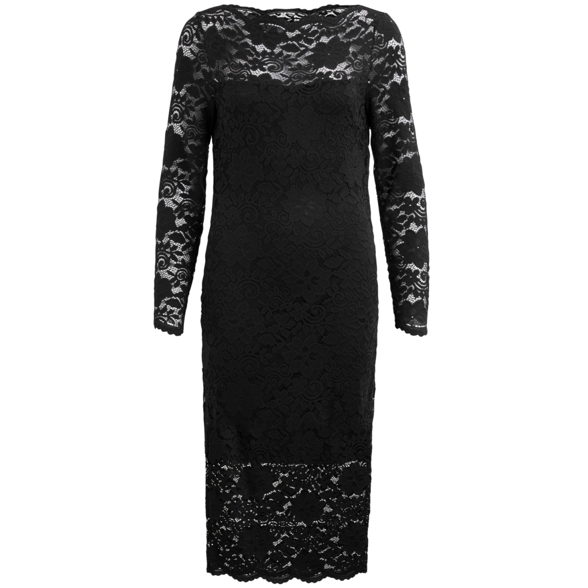 vigrit l/s dress/1 14044605 vila jurk black