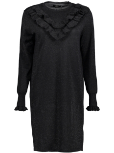 Only Jurk onlYASMIN L/S DRESS KNT 15144602 Black/W. BLACK G