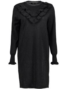 Only Jurk onlYASMIN L/S DRESS KNT 15144602 Black/W. BLACK G