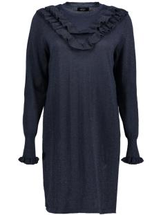 Only Jurk onlYASMIN L/S DRESS KNT 15144602 Sky Captai/ W. BLACK G