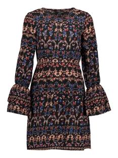 Vero Moda Jurk VMMOLLY L/S WRINCLE SHORT DRESS 10191087 Black/MOLLY PRIN