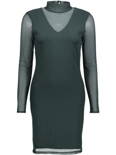 Vero Moda Jurk VMKIRA LS MESH SHORT DRESS 10188279 Green Gables