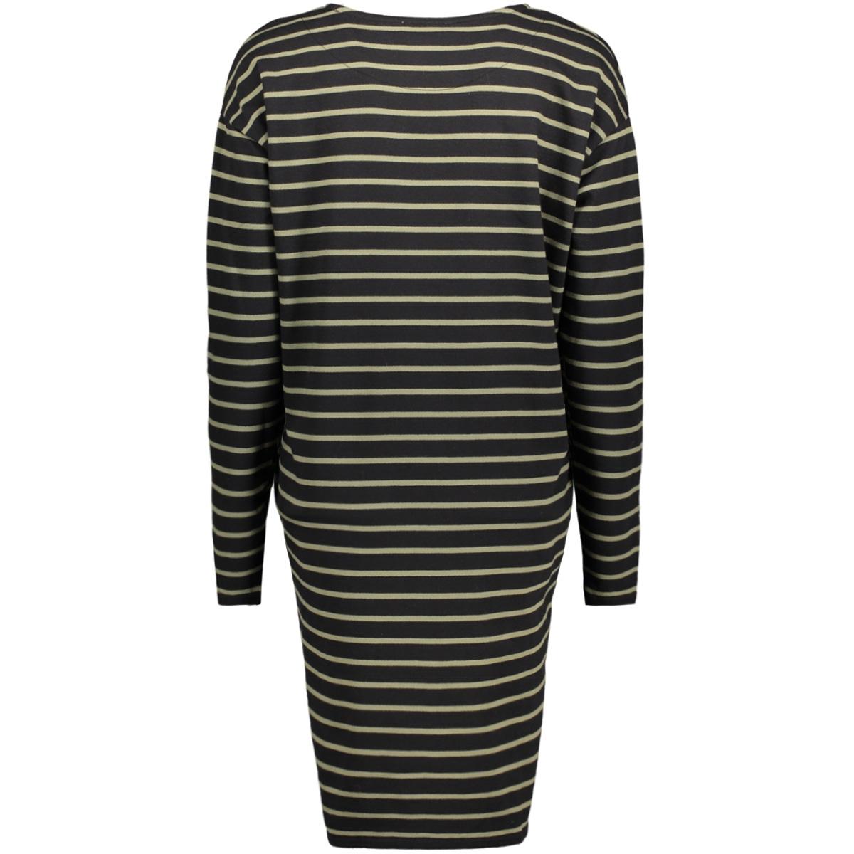 pcbibi ls sweat dress 17081243 pieces jurk black/ deep lichen