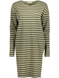 Pieces Jurk PCBIBI LS SWEAT DRESS 17081243 Deep lichen/Black