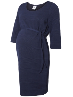 Mama-Licious Positie jurk MLRUTH 3/4 JERSEY ABOVE KNEE DRESS 20007710 Medieval Blue