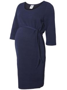 Mama-Licious Positie jurk MLRUTH 3/4 JERSEY ABOVE KNEE DRESS 20007710 Medieval Blue