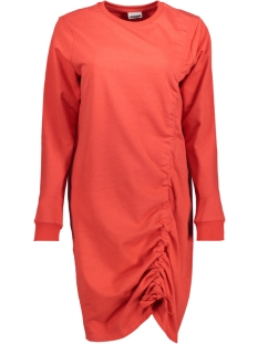 nmliam l/s drawstring short dress 1 27001241 noisy may jurk flame scarlet