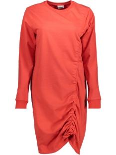 Noisy may Jurk NMLIAM L/S DRAWSTRING SHORT DRESS 1 27001241 Flame Scarlet