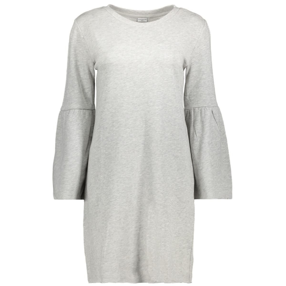 jdyprove l/s wide sl sweat dress sw 15146670 jacqueline de yong jurk light grey melange