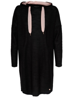 Only Jurk onlAMELIE L/S HOOD DRESS TOP JRS 15146954 Black/SOILD