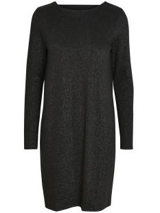 pcannabella ls glitter deep back dress 17086174 pieces jurk black/black lure